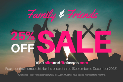 Family & Friends Sale